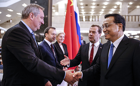 Встреча премьер-министра РФ Д.Медведева и премьера госсовета Китая Ли Кэцяна