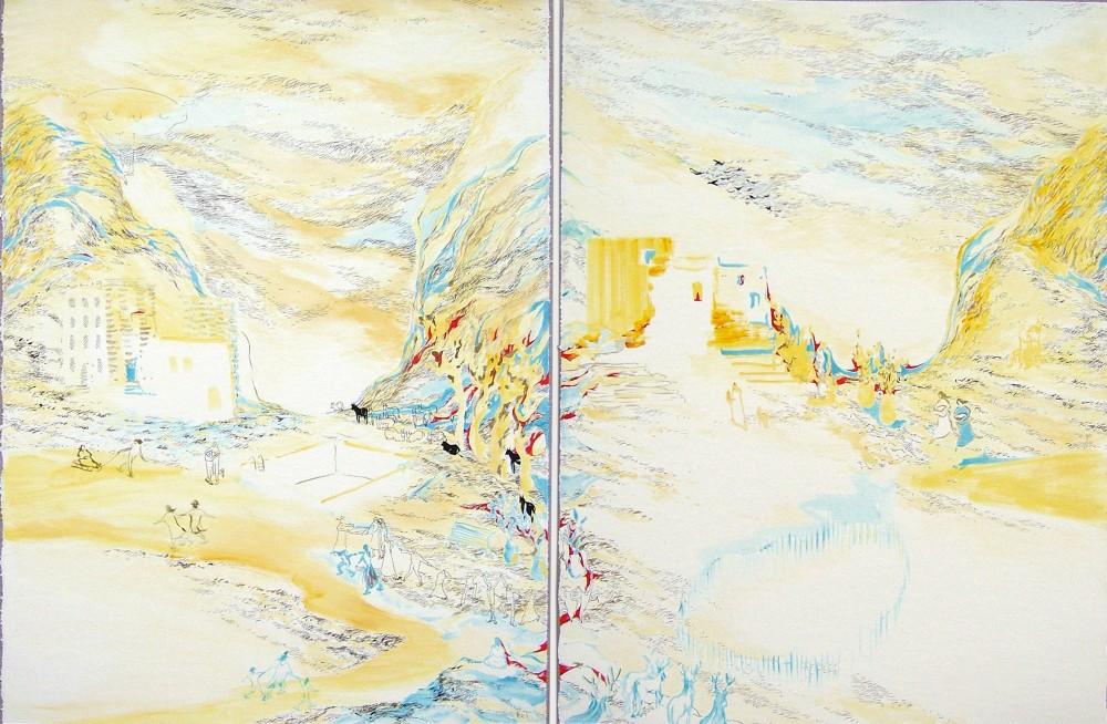 Moving-mountains-II--Acrylique-sur-papier-marouflé-sur-toile-110X75