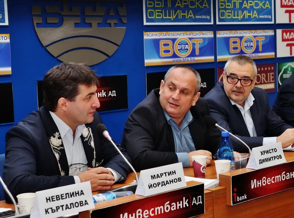 Мартин Йорданов, Христо Димитров, проф. Любомир Стойков (от ляво на дясно)