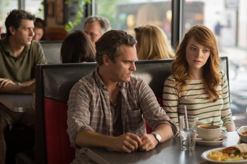 """Хоакин Феникс и Ема Стоун в сцена от филма """"Почти нормален"""""""