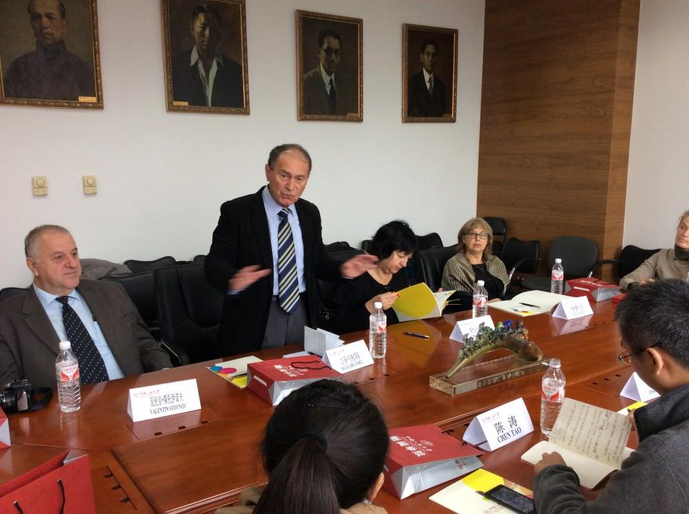 Среща с китайски преподаватели и студенти