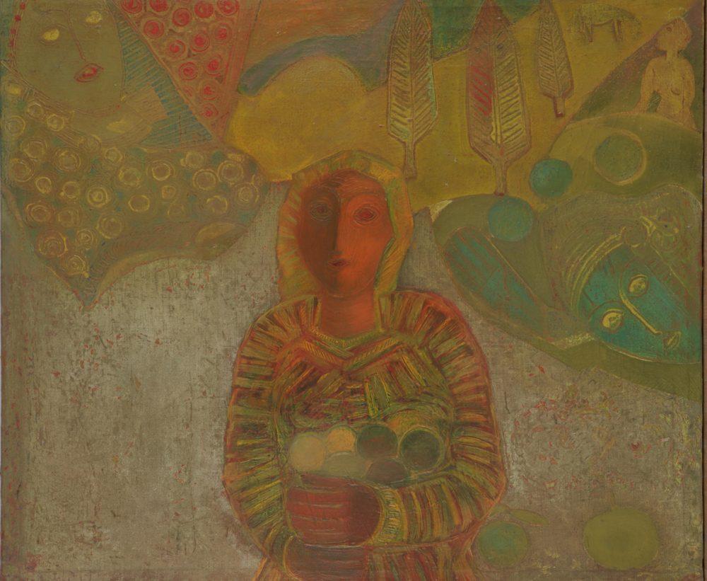 Момиче с плодове, 1976г., Национална галерия
